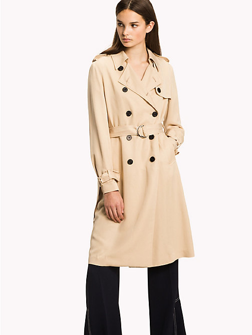 TOMMY HILFIGER Comfort fit trenchcoat - PEBBLE - TOMMY HILFIGER Jassen - main image