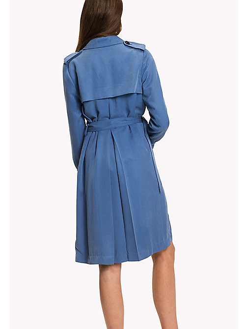 TOMMY HILFIGER Comfort fit trenchcoat - DUTCH BLUE - TOMMY HILFIGER Nieuw Binnen - detail image 1