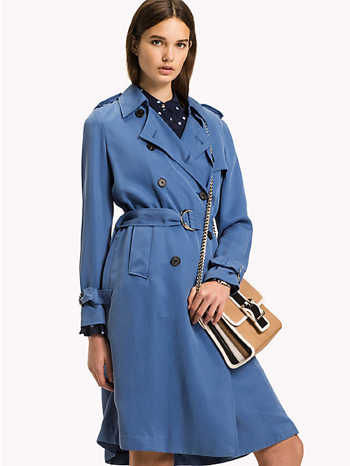TOMMY HILFIGER Comfort fit trenchcoat - DUTCH BLUE - TOMMY HILFIGER Jassen - main image