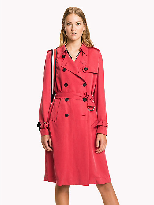 TOMMY HILFIGER Comfort Fit Trench Coat - CRIMSON - TOMMY HILFIGER Clothing - main image