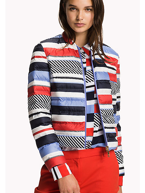 TOMMY HILFIGER Reversible Quilted Jacket - HYDRANGEA / SPEED PATCHWORK STP - TOMMY HILFIGER NEW IN - main image