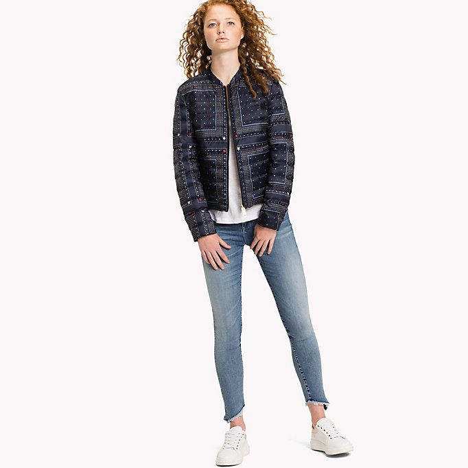TOMMY HILFIGER Reversible Quilted Jacket - HYDRANGEA / SPEED PATCHWORK STP - TOMMY HILFIGER Women - detail image 2