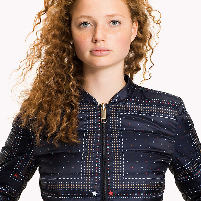 TOMMY HILFIGER Reversible Quilted Jacket - HYDRANGEA / SPEED PATCHWORK STP - TOMMY HILFIGER Women - detail image 3