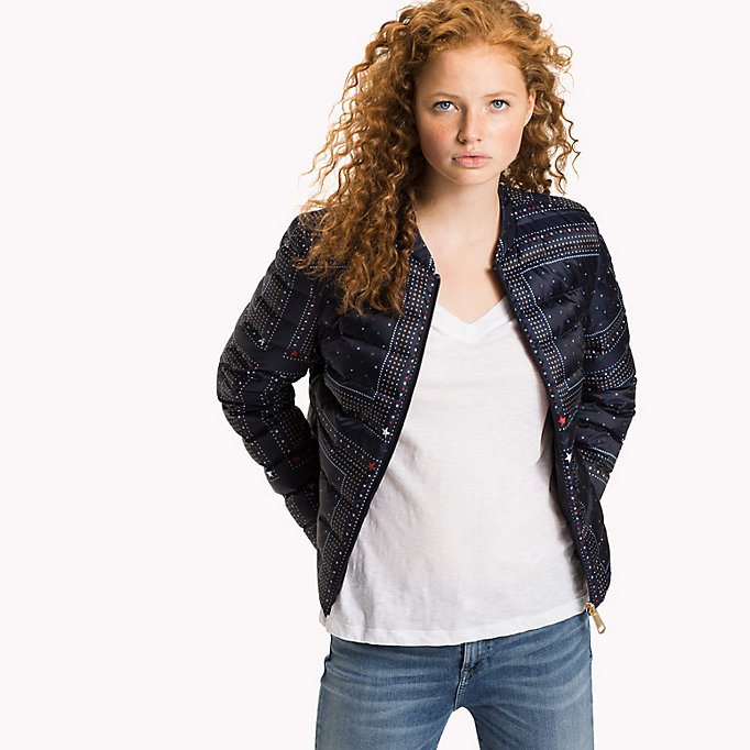 TOMMY HILFIGER Reversible Quilted Jacket - HYDRANGEA / SPEED PATCHWORK STP - TOMMY HILFIGER Women - main image
