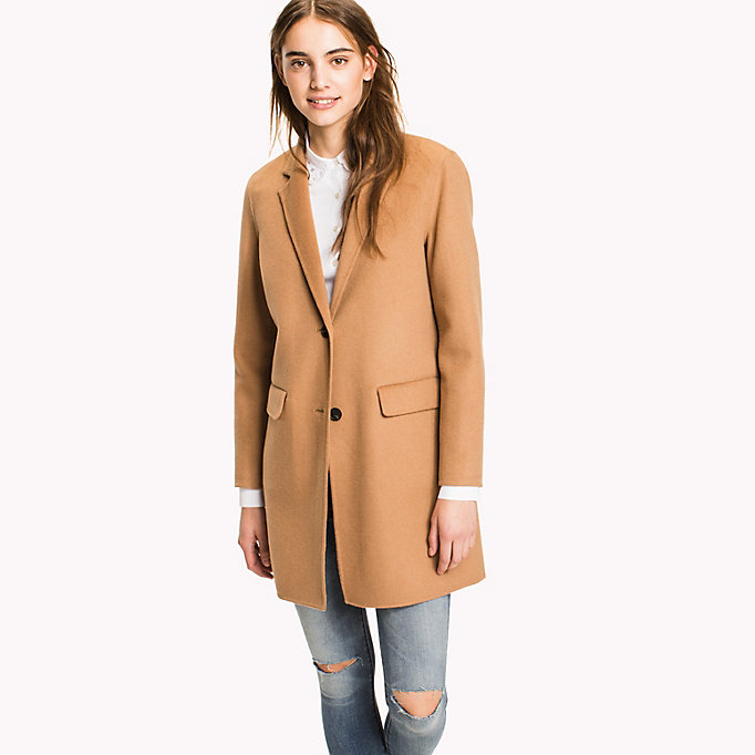 TOMMY HILFIGER Wool Blend Coat - DUTCH BLUE - TOMMY HILFIGER Women - main image