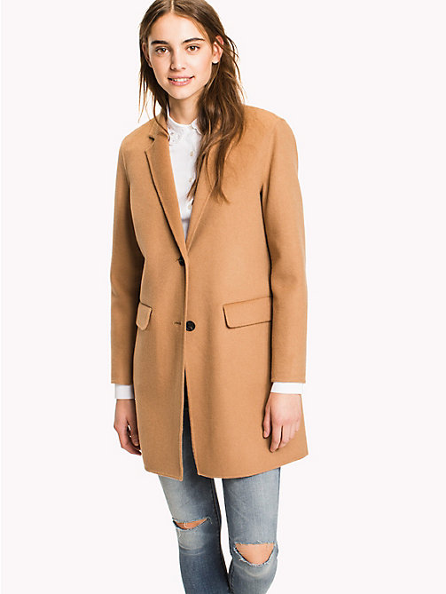 Wool Blend Coat - CLASSIC CAMEL - TOMMY HILFIGER Clothing - main image