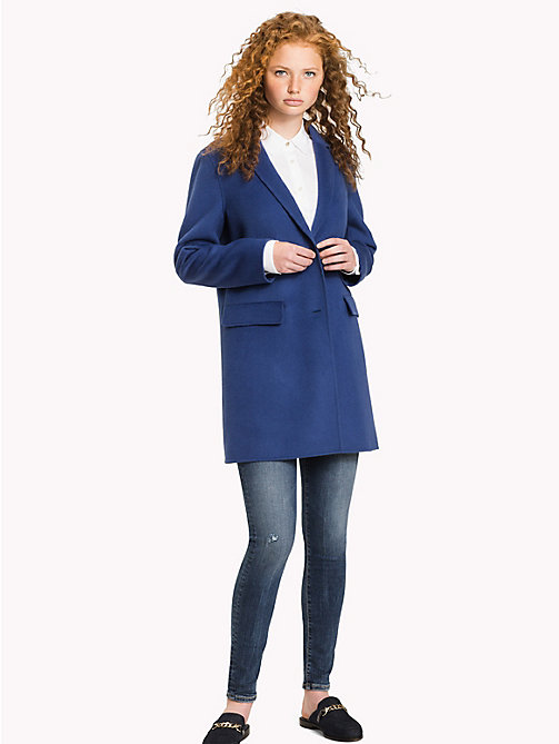 TOMMY HILFIGER Wool Blend Coat - DUTCH BLUE - TOMMY HILFIGER Clothing - main image