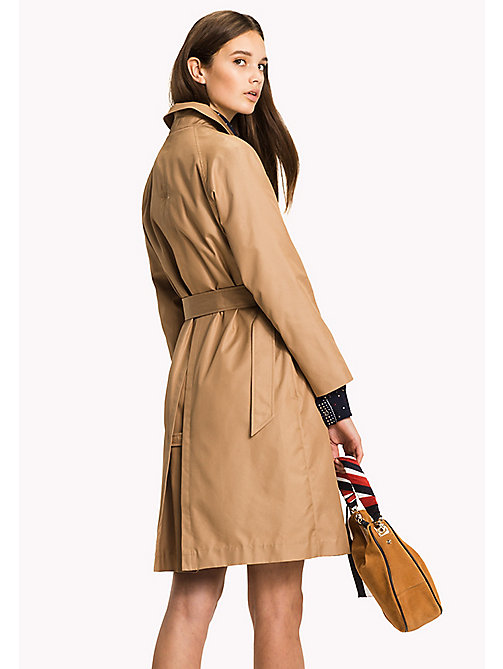 TOMMY HILFIGER Cotton Belted Mac - CLASSIC CAMEL - TOMMY HILFIGER Coats - detail image 1