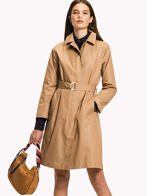 TOMMY HILFIGER Cotton Belted Mac - CLASSIC CAMEL - TOMMY HILFIGER Coats - main image