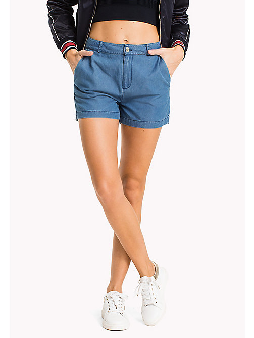 TOMMY HILFIGER Fitted Chambray Shorts - JUDE - TOMMY HILFIGER NEW IN - main image