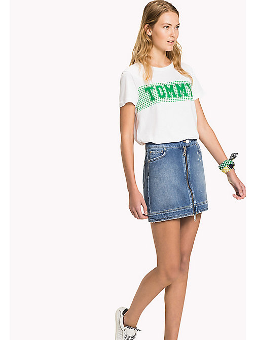 TOMMY HILFIGER Slim Fit Denim Mini Skirt - KEENA - TOMMY HILFIGER Vacation Style - main image