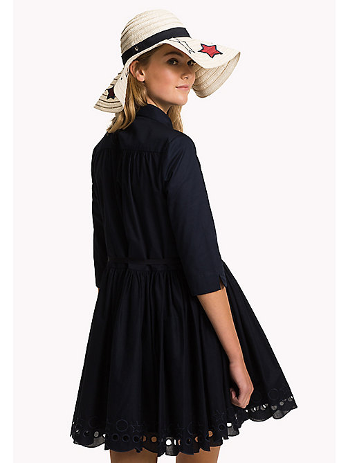 TOMMY HILFIGER Scalloped Broderie Shirt Dress - MIDNIGHT - TOMMY HILFIGER Миди - подробное изображение 1