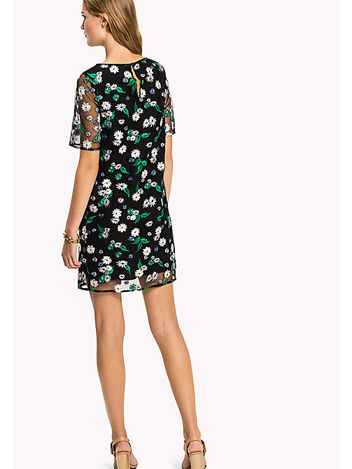 TOMMY HILFIGER Midi-Kleid mit Blumenstickerei - BLACK BEAUTY MULTI / FLORAL - TOMMY HILFIGER Occasion Wear - main image 1