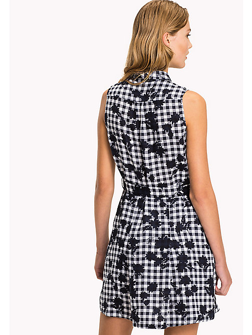 TOMMY HILFIGER Sleeveless Patterned Dress - TROPHY FLORAL OVERPRINT GINGHAM PRT / NA - TOMMY HILFIGER VACATION - detail image 1