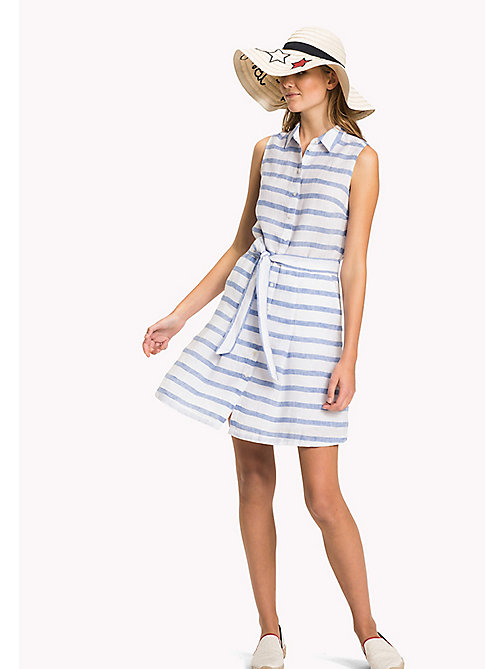 TOMMY HILFIGER Sleeveless Patterned Dress - BRETON STP / REGATTA - TOMMY HILFIGER VACATION - main image