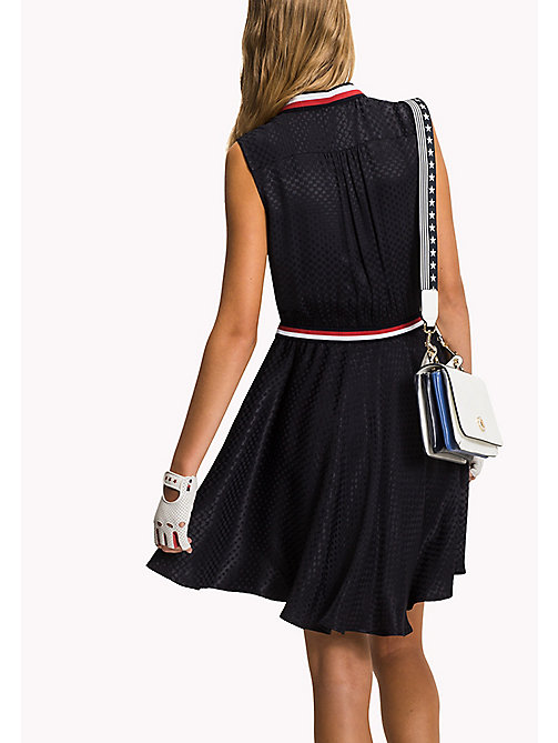 TOMMY HILFIGER Sleeveless Regular Fit Dress - DEGRADE HEART JACQUARED / MIDNIGHT - TOMMY HILFIGER Midi - detail image 1