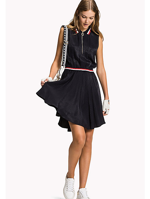 TOMMY HILFIGER Ärmelloses Regular Fit Kleid - DEGRADE HEART JACQUARED / MIDNIGHT - TOMMY HILFIGER Midi - main image