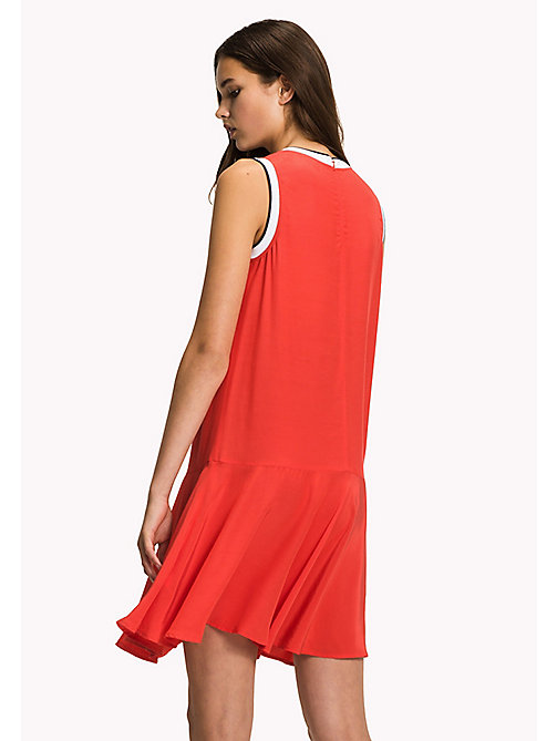 TOMMY HILFIGER Sleeveless Regular Fit Dress - FLAME SCARLET / NAVY BLAZER - TOMMY HILFIGER Vacation Style - detail image 1