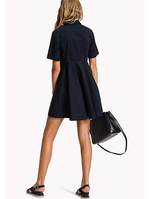 TOMMY HILFIGER Fitted Collar Dress - MIDNIGHT - TOMMY HILFIGER Midi - detail image 1
