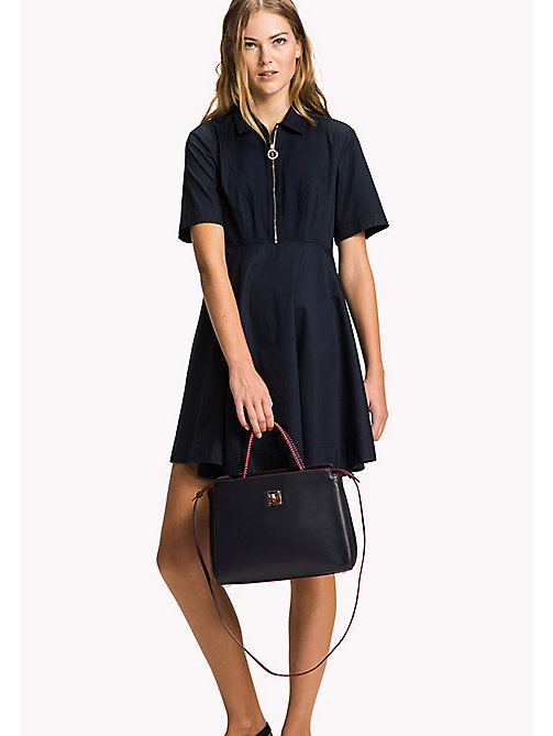 TOMMY HILFIGER Fitted Collar Dress - MIDNIGHT - TOMMY HILFIGER Midi - main image