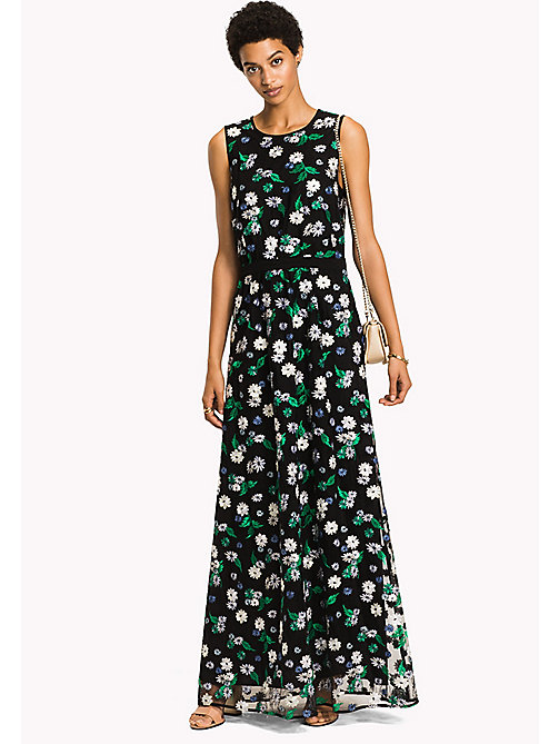TOMMY HILFIGER Floral Sleeveless Maxi Dress - BLACK BEAUTY MULTI / FLORAL - TOMMY HILFIGER Clothing - main image