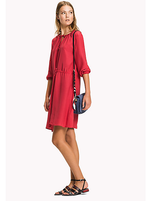 TOMMY HILFIGER Regular Fit Drawstring Dress - CRIMSON - TOMMY HILFIGER Midi - main image