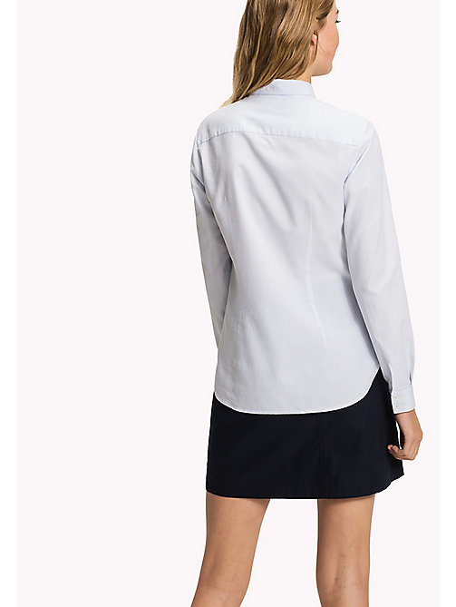 TOMMY HILFIGER Embroidered Oxford Cotton Shirt - HEATHER - TOMMY HILFIGER Women - detail image 1