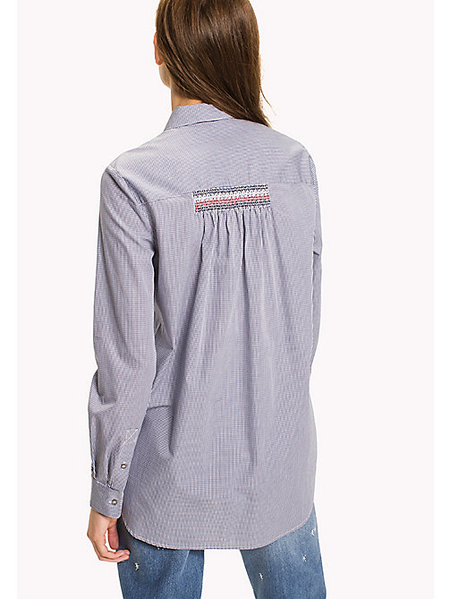 TOMMY HILFIGER Boyfriend Fit Shirt - NAVY / WHITE GINGHAM - TOMMY HILFIGER Clothing - detail image 1