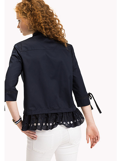 TOMMY HILFIGER Scalloped Broderie Blouse - MIDNIGHT - TOMMY HILFIGER Tops - detail image 1