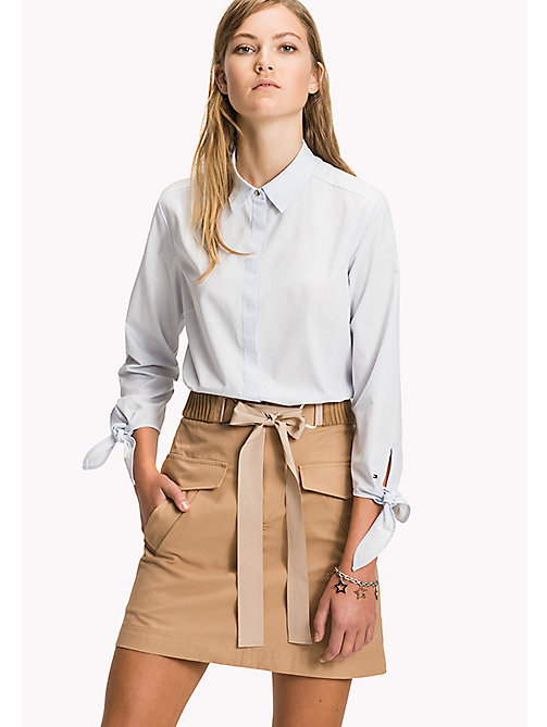 TOMMY HILFIGER Tie Sleeve Blouse - DOBBY PRT / HEATHER - TOMMY HILFIGER Clothing - main image