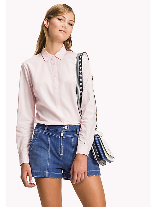 Cotton Poplin Blouse - DOBBY PRT / ORCHID PINK - TOMMY HILFIGER Clothing - main image
