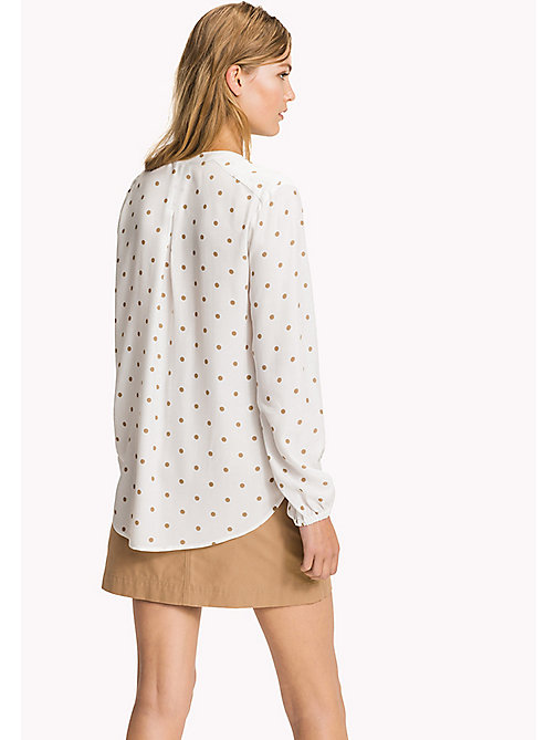 Regular fit blouse - CLASSIC POLKA DOT PRT / SNOW WHITE - TOMMY HILFIGER Kleding - detail image 1
