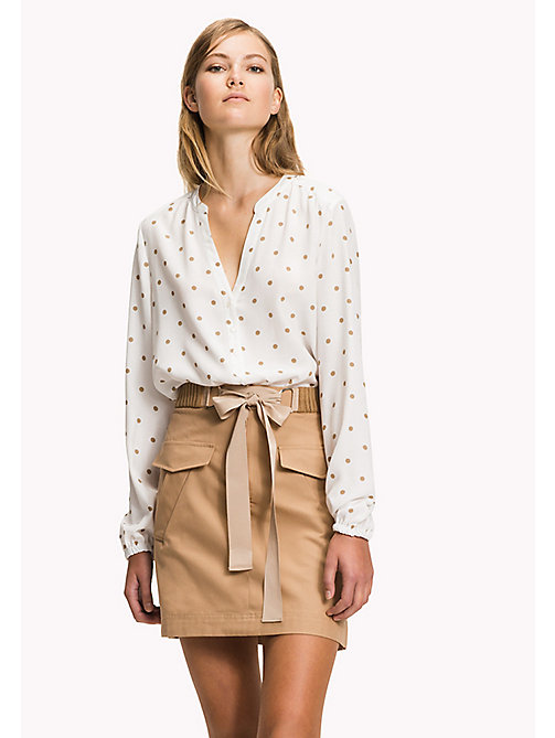 TOMMY HILFIGER Regular fit blouse - CLASSIC POLKA DOT PRT / SNOW WHITE - TOMMY HILFIGER Blouses - main image