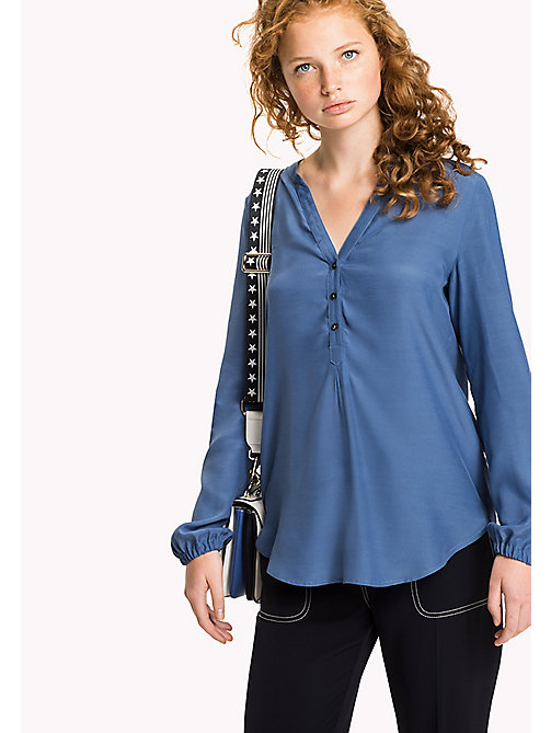 TOMMY HILFIGER Regular Fit Blouse - DUTCH BLUE - TOMMY HILFIGER Clothing - main image
