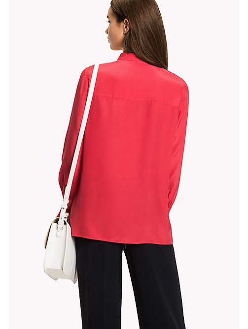 TOMMY HILFIGER Flared Cuff Shirt - CRIMSON - TOMMY HILFIGER Women - detail image 1