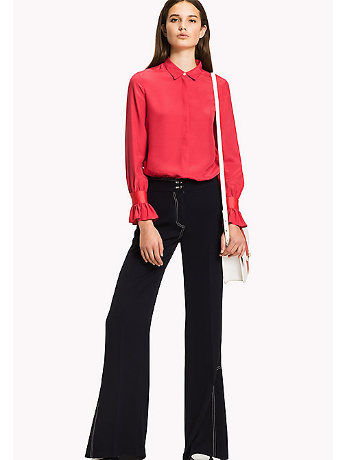 TOMMY HILFIGER Flared Cuff Shirt - CRIMSON - TOMMY HILFIGER Women - main image