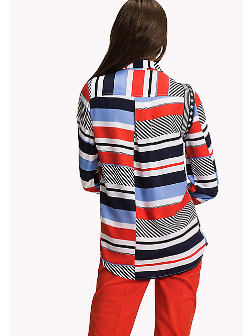 TOMMY HILFIGER Regular Fit Bluse mit Streifen - SPEED PATCHWORK STP / BLACK BEAUTY - TOMMY HILFIGER Damen - main image 1