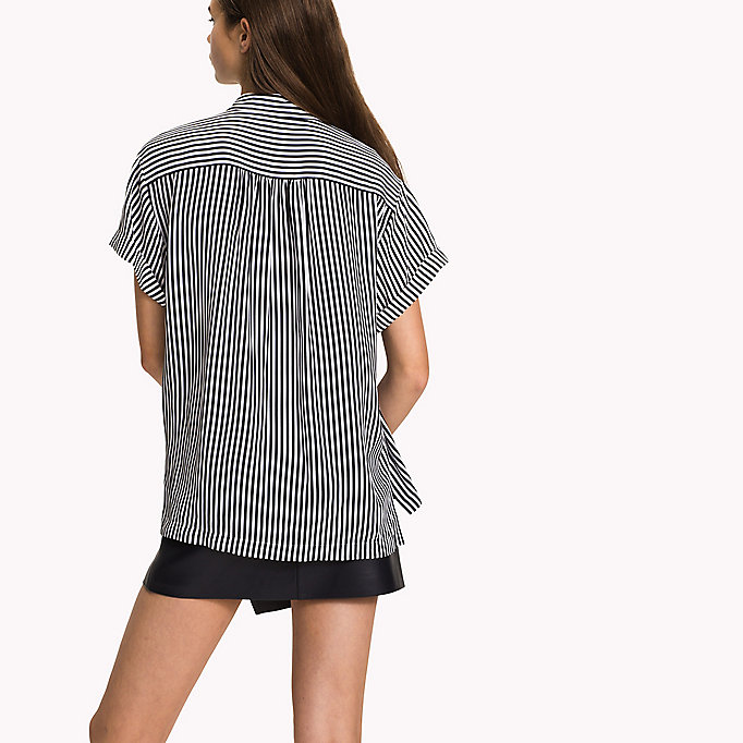 TOMMY HILFIGER Short Sleeve Blouse - MIDNIGHT - TOMMY HILFIGER Women - detail image 1
