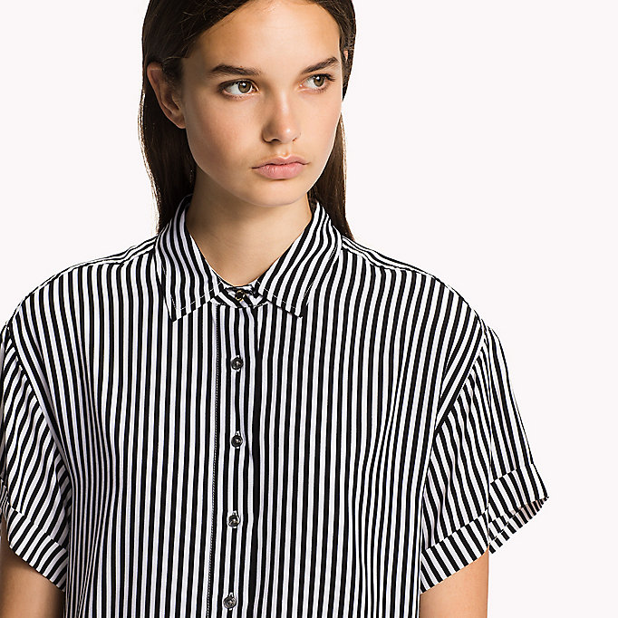 TOMMY HILFIGER Short Sleeve Blouse - MIDNIGHT - TOMMY HILFIGER Women - detail image 2