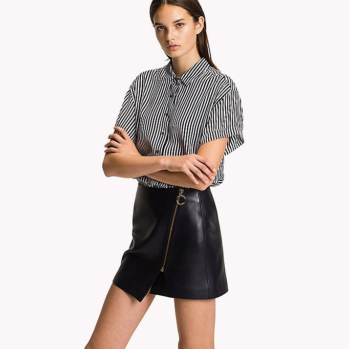 TOMMY HILFIGER Short Sleeve Blouse - MIDNIGHT - TOMMY HILFIGER Women - main image