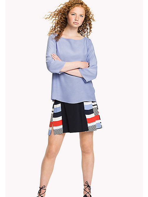 TOMMY HILFIGER Boat Neck Regular Fit Blouse - HYDRANGEA - TOMMY HILFIGER Clothing - main image