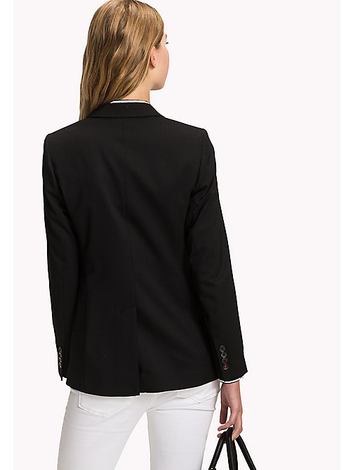TOMMY HILFIGER Single Breasted Regular Fit Blazer - BLACK BEAUTY - TOMMY HILFIGER The Office Edit - detail image 1