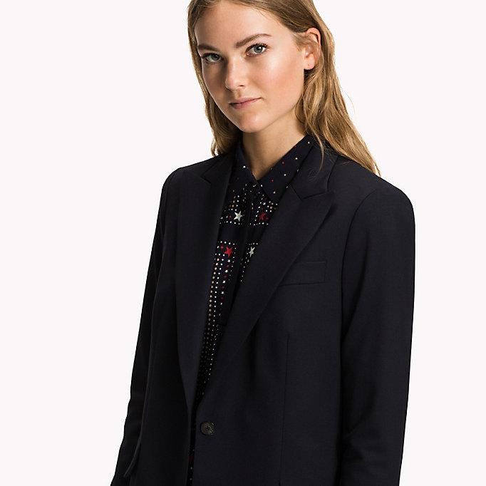 TOMMY HILFIGER Single Breasted Regular Fit Blazer - BLACK BEAUTY - TOMMY HILFIGER Clothing - detail image 3
