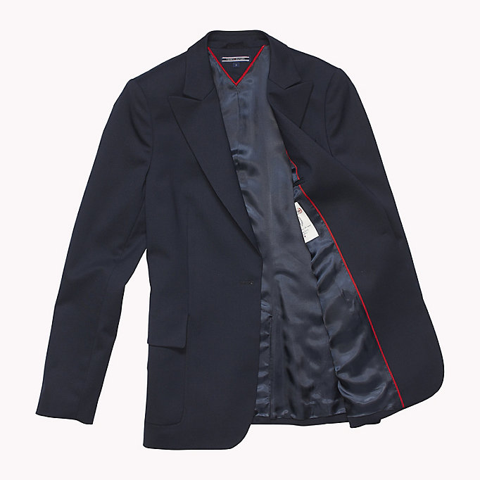 TOMMY HILFIGER Single Breasted Regular Fit Blazer - BLACK BEAUTY - TOMMY HILFIGER Women - detail image 4