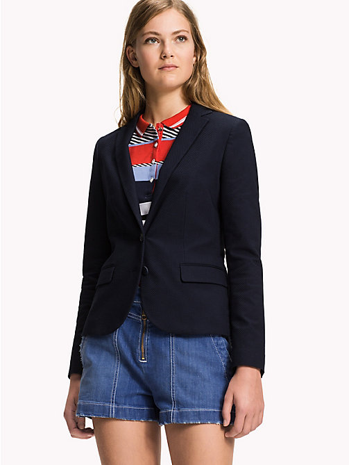 TOMMY HILFIGER Slim Fit Blazer - MIDNIGHT - TOMMY HILFIGER The Office Edit - main image