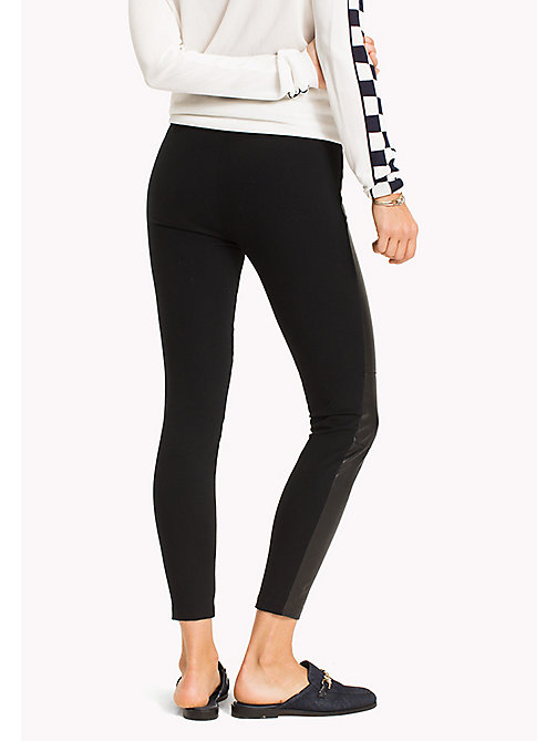 TOMMY HILFIGER Leather Super Slim Fit Leggings - BLACK BEAUTY - TOMMY HILFIGER Clothing - detail image 1