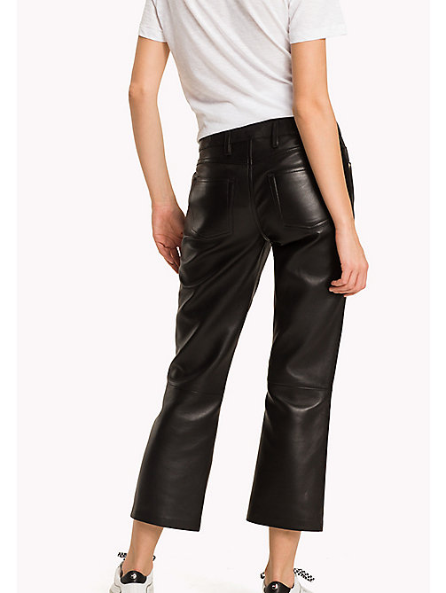 TOMMY HILFIGER Leather Trousers - BLACK BEAUTY - TOMMY HILFIGER Women - detail image 1