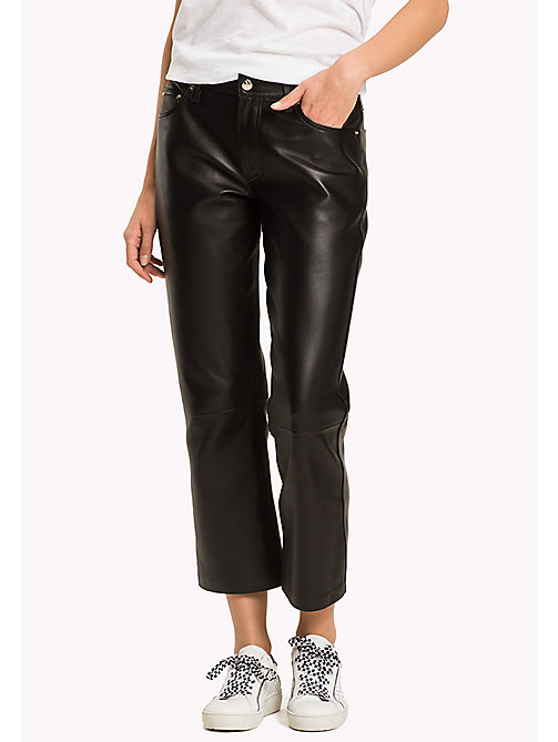 TOMMY HILFIGER Leather Trousers - BLACK BEAUTY - TOMMY HILFIGER Leather Trousers - main image