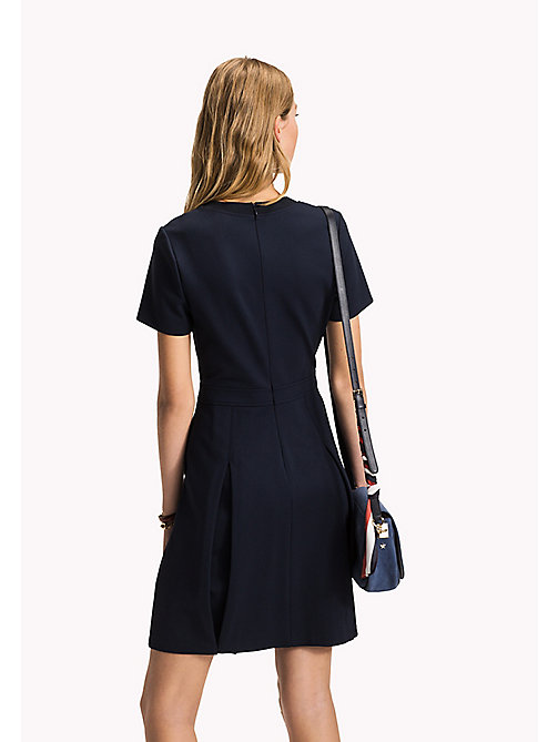 TOMMY HILFIGER Punto Milano Dress - MIDNIGHT - TOMMY HILFIGER Midi - detail image 1
