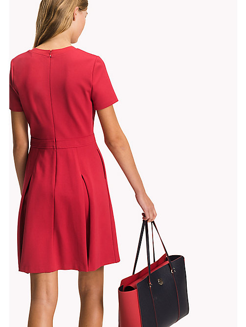 TOMMY HILFIGER Punto Milano Dress - CRIMSON - TOMMY HILFIGER Миди - подробное изображение 1